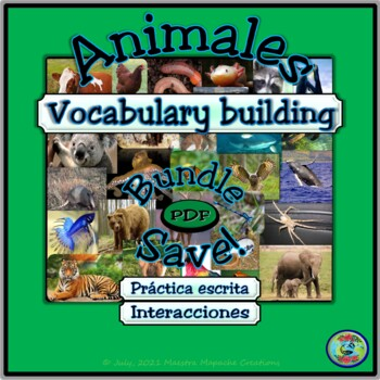 Animal Topic Vocabulary and Worksheets Activity Bundle