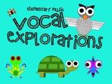 Music Mini Lesson: Vocal Explorations