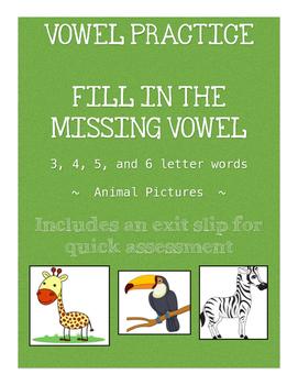 Animal Vowel Practice