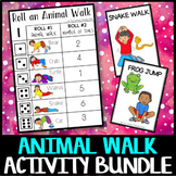 Animal Walk Activity Bundle: brain breaks, sensory processing, coping strategies