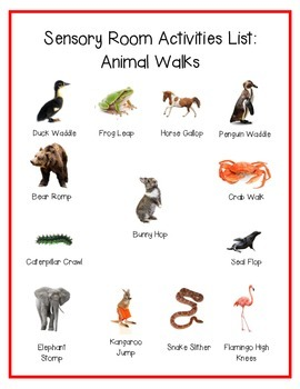 animal walk movement activity list by vanessa ghiringhelli tpt. Black Bedroom Furniture Sets. Home Design Ideas