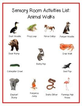 Animal Walk Movement Activity List