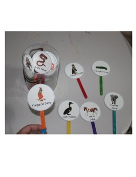 Animal Walk Movement Popsicle Sticks