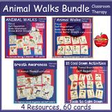 Animal Walks BUNDLED:Circle, Gross Motor, Breath Regulation, & Calm Down Tools