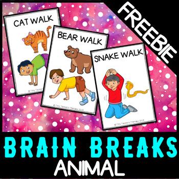 Animal Walks - Brain Breaks, Sensory Break FREEBIE!