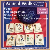 Animal Walks ~ Yoga Cards: Self-Reg, Brain Breaks, Gross M