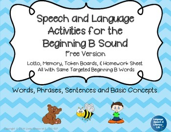 FREE Articulation and Language Activities for the Beginnin