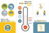 Animal Weather Theme Bulletin Board, Seasons Posters, Seas