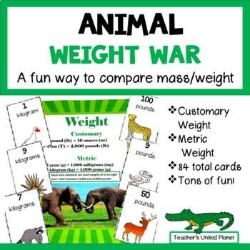 Measurement Games - Animal Weight War