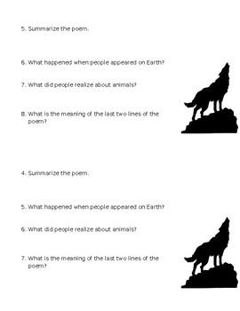 Animal Wisdom/The Last Wolf Mini-Quiz