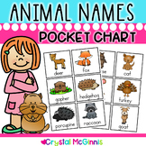 Animal Word Cards (72 Pocket Chart Sized Labeled Animal Cards) For Writing