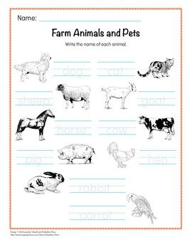 Animal Word Cards BUNDLE - 7 Packs in 1