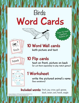 Animal Word Cards - Birds