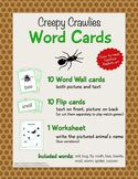 Animal Word Cards - Creepy Crawlies