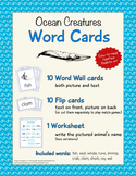 Animal Word Cards - Ocean Creatures