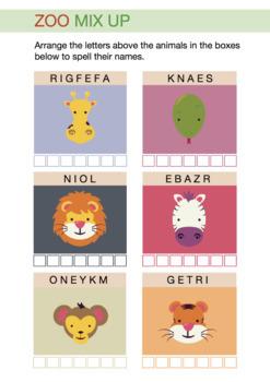 Animal Word Jumble - Fun Spelling Activity Sheet