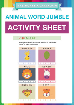 Animal Word Jumble - Fun Spelling Activity Sheet