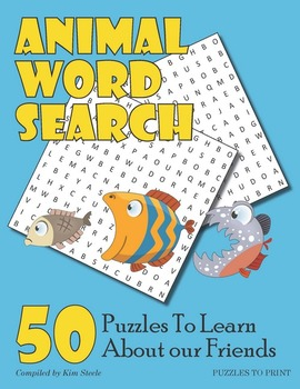 Animals Word Search Puzzle Bundle