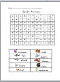 Animal Word Search with Pictures: Zoo, Ocean, Jungle and Farm