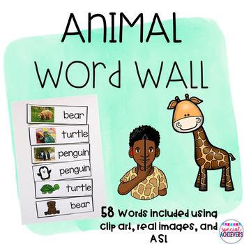 Animal Word Wall