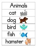 Animal Word Wall/Flash Cards