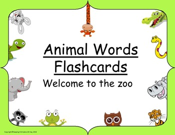 Animal Words Flashcards