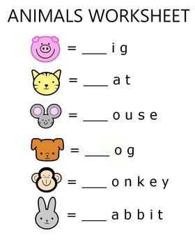 Animal Worksheet