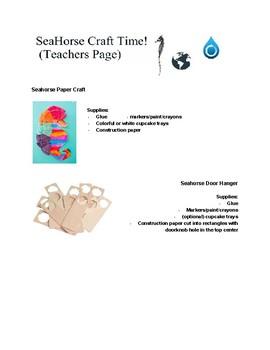 Animal Worksheet Packet- Seahorse