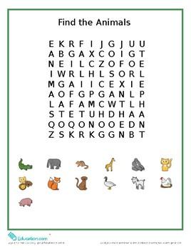 Animal Worksheets