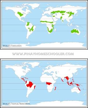 Montessori Inspired Animal World Habitats Learning Pack