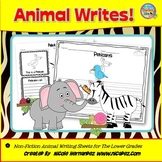 Nonfiction Animal Writing Sheets