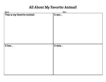 Animal Writing: 4 square