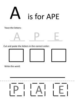 Animal Writing A to Z