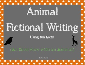 Animal Writing Activity (An Interview with an Animal)