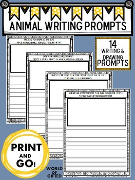 Animal Writing Prompts {Creative, Early Finishers, Science, Writing}