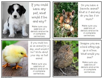 Animal Writing Prompts and Word Wall