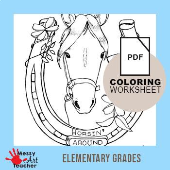 Animal Writing and Coloring Sheets