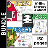 Writing and Literacy Bundle:  Farm, Ocean, Zoo