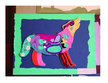 Animal Yarn Paintings