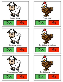 Animal Yes/No Question Cards