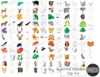 Animal Zoo: Alphabet Animals CLIP ART