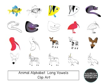 Animal Zoo: Long Vowel  Animals CLIP ART