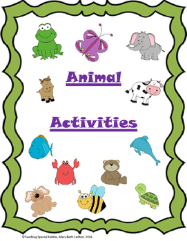 Animal activities/sorts adapted book