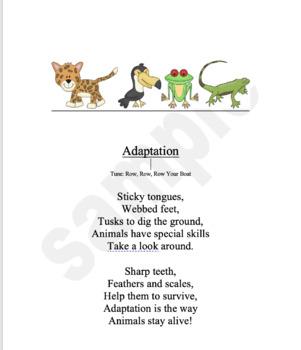 Animal adaptation Poem