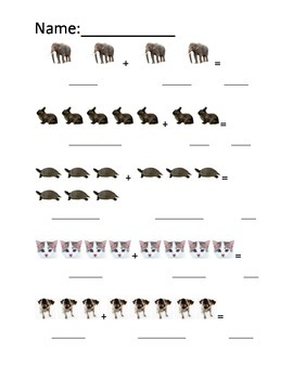 Animal addition practice