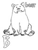 Animal alphabet coloring pages - A-Z