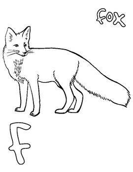 Animal alphabet coloring pages vol.1: A - I, bear, fox, eagle