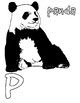 Animal alphabet coloring pages vol.2: J-R, jellyfish, panda, raccoon