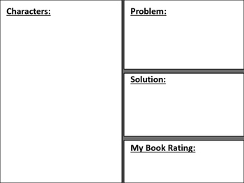 Animal and Book Report Templates