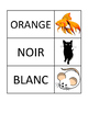 Animal and Colour Matching Cards (En Français)